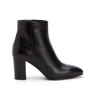 Aquatalia Florita Black Leather Ankle Boots 9